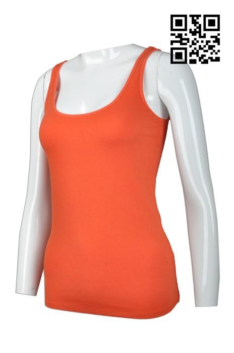 VT158 訂造淨色背心款式   製作女裝背心款式  吊帶背心   設計運動背心款式   背心中心