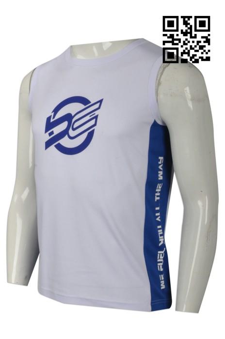 VT160  訂製男款運動背心  供應緊身背心T恤  大量訂造背心T恤 背心T恤專營