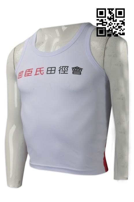 VT163  設計田徑運動背心  訂購吸濕排汗背心T恤 大量訂造背心T恤  背心T恤專營