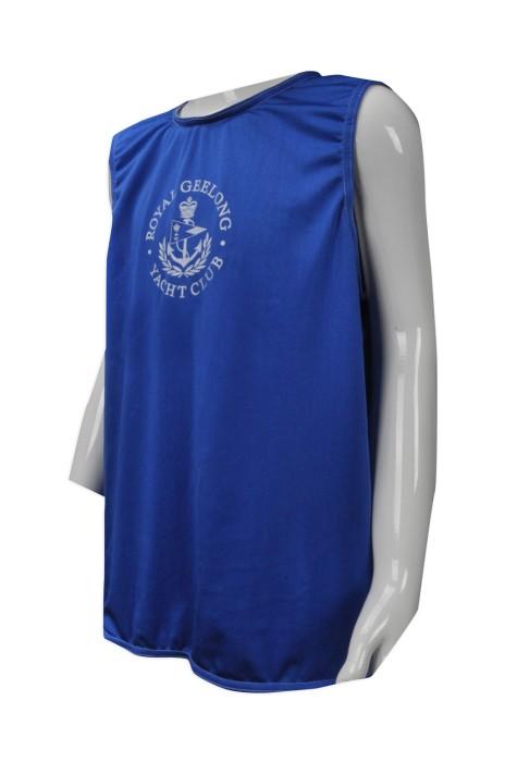 VT165   大量訂造背心T恤  個人設計背心T恤  澳洲游艇會 雞翼袖背心  澳洲 TFS  背心T恤專營