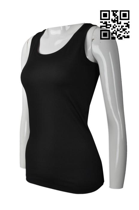 VT167 自訂女裝背心T恤款式   製造淨色背心T恤款式  吊帶背心 撞色蝦蘇線  設計背心T恤款式   背心T恤中心