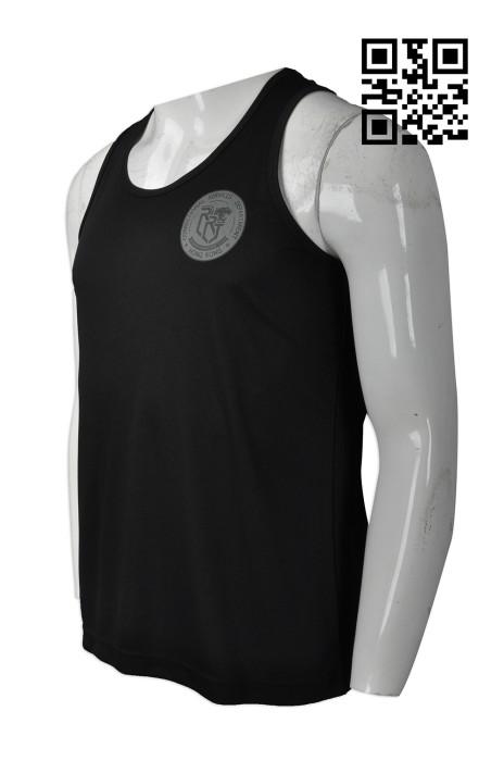 VT169  訂做度身背心T恤款式   自訂LOGO背心T恤款式   紀律部門 活動T恤  設計男裝背心T恤款式   背心T恤製造商