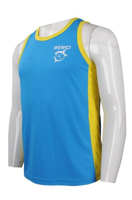 VT172 團體訂做背心T恤 印製印花logo背心T恤 設計撞色款背心T恤 背心T恤批發商
