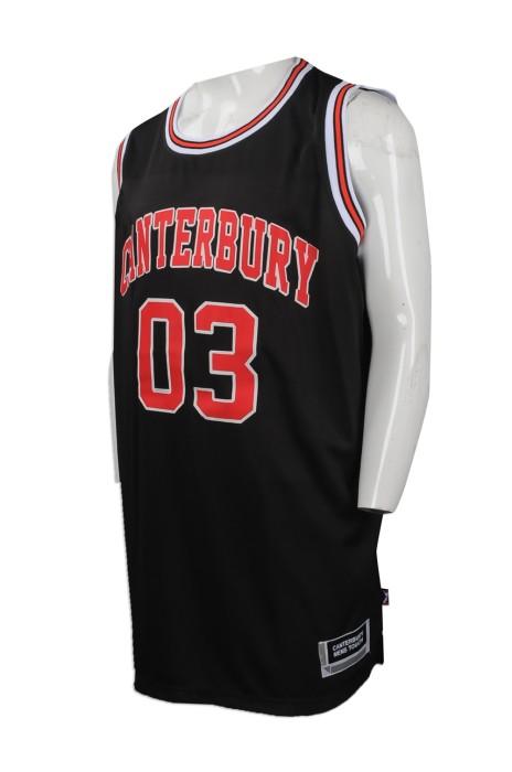 VT173 大量訂購大碼背心T恤 設計印花logo背心T恤 新西蘭 籃球隊衫 背心T恤供應商