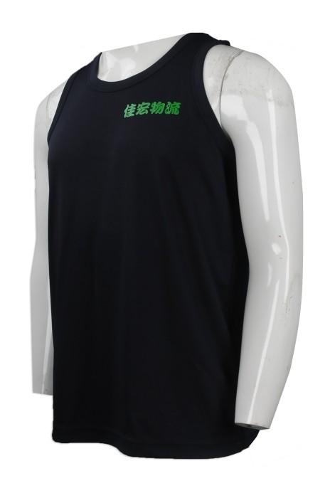 VT176 來樣訂造背心T恤 網上下單背心T恤 自製logo款背心T恤  物流公司行業制服 吸濕排汗 T恤生產商