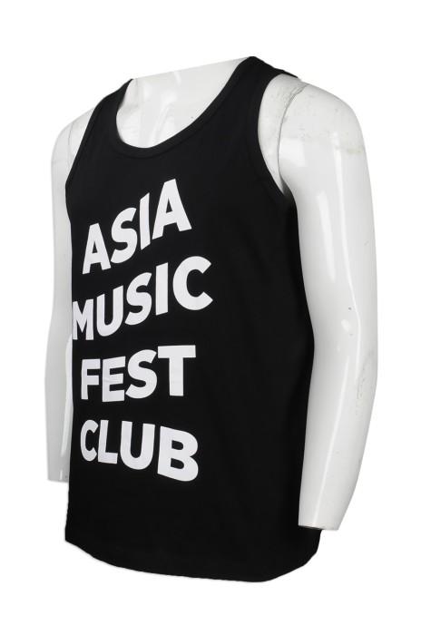 VT178 來樣訂製背心T恤 網上下單背心T恤 自製logo印花款背心T恤 亞洲音樂節背心 背心T恤生產商