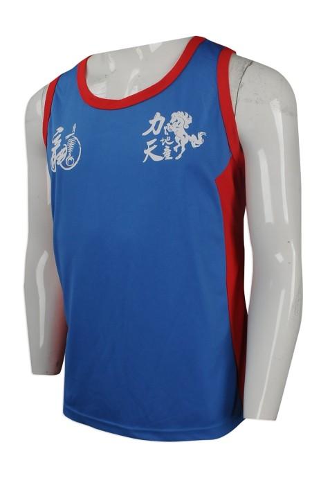 VT183 團體訂做運動背心T恤 大量訂做男裝背心T恤  地產公司 跑步 比賽 背心T恤生產商