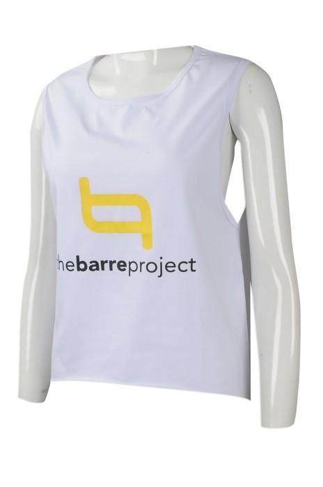 VT202 網上下單背心T恤 訂造背心T恤 澳洲健身中心 前短後長 後彎跳健背心 自訂背心T恤製衣廠