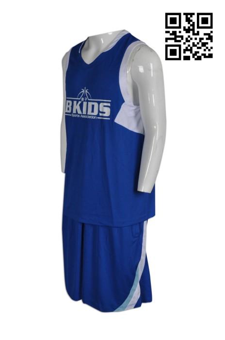 WTV127訂購背心球服套裝  設計吸濕排汗球服 學界 製造網眼透氣球服 球服製造商
