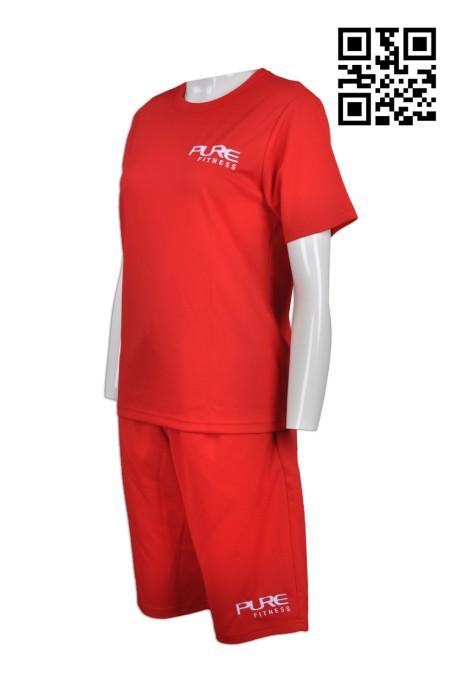 WTV131 設計游泳池套裝 訂造純色救生員制服套裝 夏天 製作制服套裝 制服套裝專營
