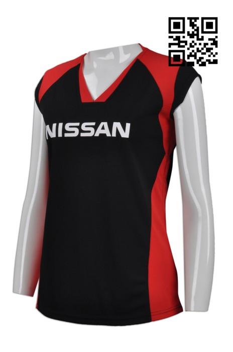 WTV132 設計拼色運動衫  供應團體女款運動背心T恤 度身訂造運動衫 背心T恤製造商