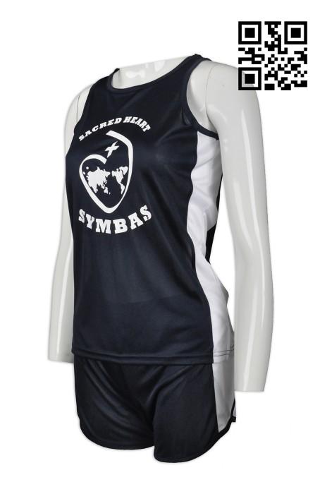 WTV133  設計女裝運動套裝款式    自訂LOGO運動套裝款式  籃球 排球 跑步隊衫  訂造輕薄運動套裝款式    運動套裝專營