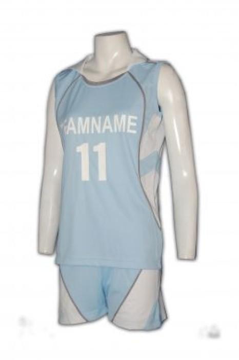 WTV103女沙滩排球制服訂製 排球衫訂做 排球衫印字 香港波衫鋪