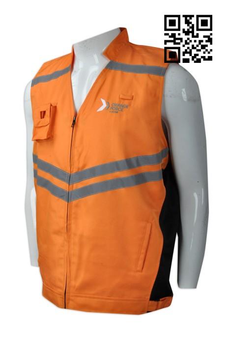 V174  設計可收納背心外套  製作反光條背心外套  供應透氣孔背心外套  新加坡   意外救援 行動出勤制服 多袋款式 背心外套製造商