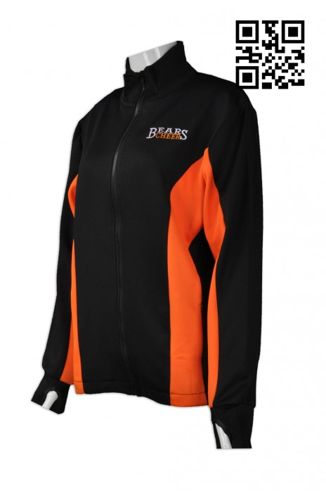 Z307 設計手指孔衛衣  訂購拼色衛衣外套  台灣 貿易 網上下單拉鏈衛衣   衛衣外套專營