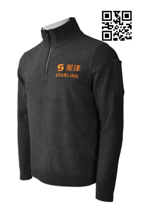 Z309  設計男裝衛衣款式    訂做半胸拉鏈衛衣款式  高科技 鐳射行業   自製繡花LOGO衛衣款式   衛衣廠房