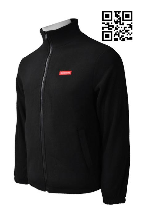 Z321  製造純色衛衣外套  網上下單拉鏈衛衣外套 電訊 行業 秋冬制服外套 度身訂造衛衣外套 衛衣製衣廠