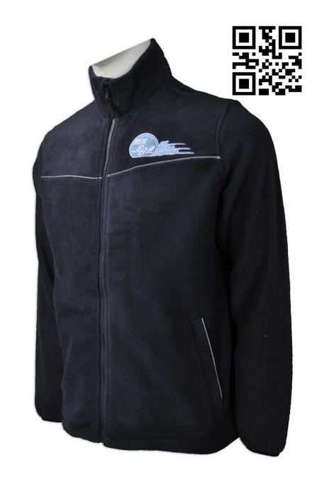 J686 自訂搖粒絨外套款式    設計LOGO風䄛外套款式  中港過境大巴職員制服  製作反光效果風䄛外套款式   風䄛外套中心
