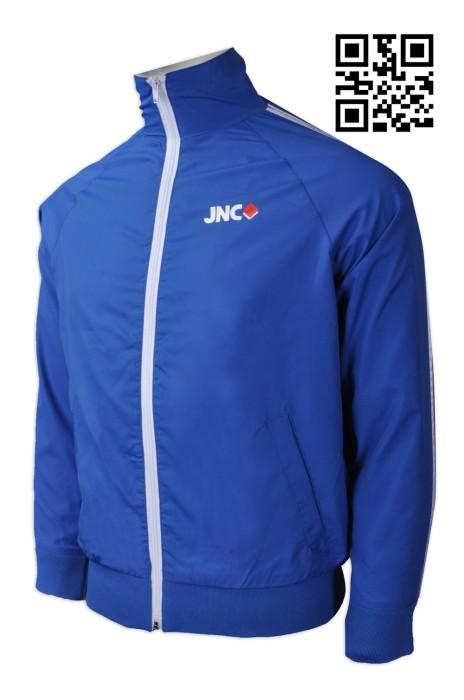 J694  製造拉鏈風褸外套 設計科技公司外套  網上下單外套 風褸製衣廠
