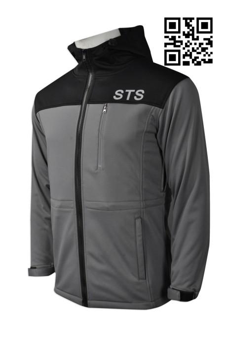J696  設計袖口魔術貼外套  訂造拼色風褸外套  保安部 個人設計風褸 澳門 澳門大學 風褸專門店