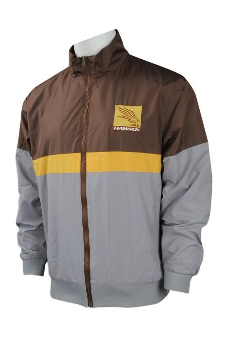 J734 訂製牛角袖風褸外套 設計撞色風褸外套  撞3色 中學 運動外套 澳洲 Tudor  風褸外套專營店