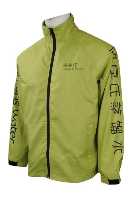 J738 來樣訂製風褸外套 設計牛角袖風褸外套款式  風褸 網背 自製員工制服 物流 飲品運送制服 風褸外套專營店 游泳風褸