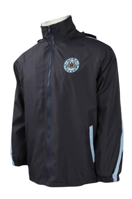 J741 團體訂做風褸外套 設計繡花logo款風褸外套 消光防絨布 風褸外套專營店