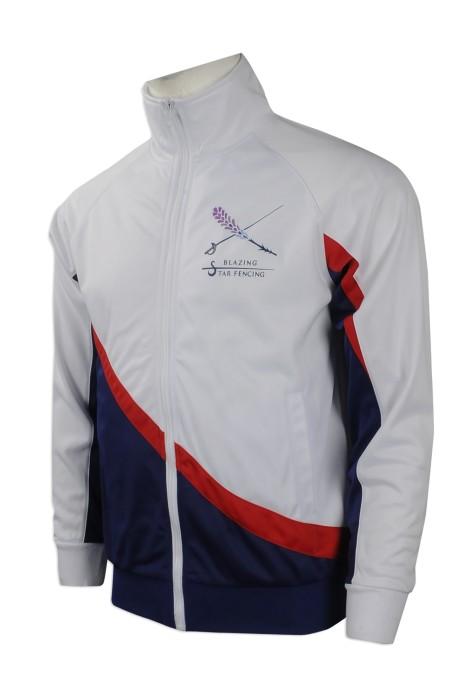 J748 來樣訂做風褸外套 網上下單風褸外套  劍擊隊衫 設計撞色風褸外套供應商