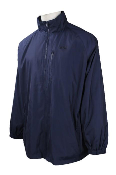 J750 來樣訂做風褸外套 網上下單風褸外套 澳門 IGT  旅遊學院  風褸外套生產商