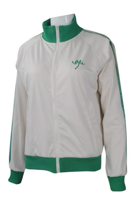 J769 度身訂做女裝風褸外套 大量訂做風褸外套款式 班褸 設計撞色風褸外套專營店