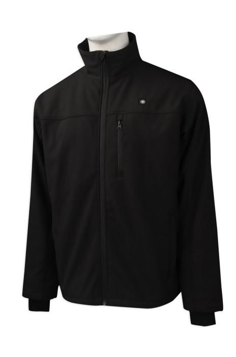 J785 訂做黑色立領拉鏈外套 外套香港公司 複合外套