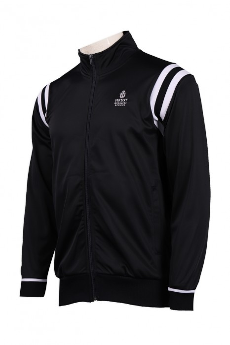 J789 訂製黑色綉花logo風褸外套  風褸外套供應商