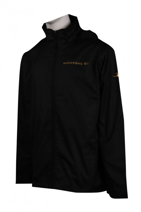 J810 訂造淨色拉鏈收帽外套 香港 風褸外套生產商
