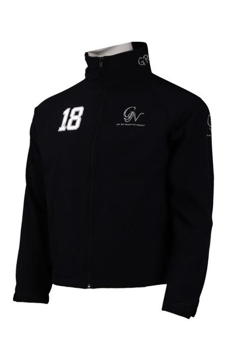 J813 訂製搖粒絨風褸外套 燙字 後領繡花 風褸外套供應商