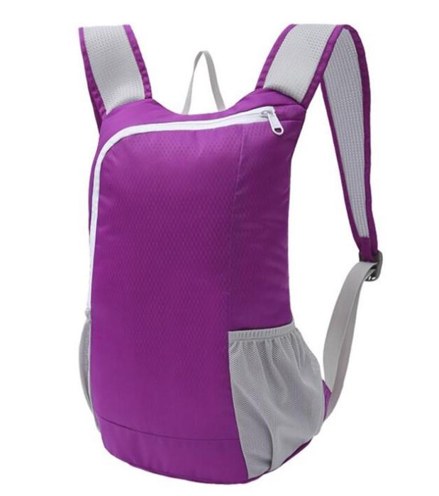 FB009 自製輕便折疊包款式   設計防水折疊包款式  運動背包 可收縮背囊 輕便 收縮袋 收納背包 訂做折疊包款式  折疊包製衣廠