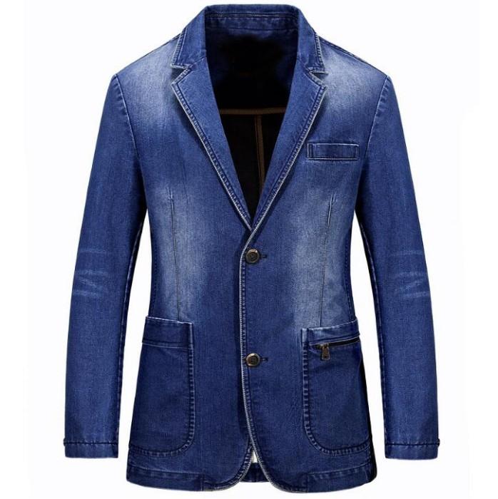 SKJN003 製造西服牛仔外套款式   訂造牛仔小西裝外套款式    設計男裝牛仔外套款式   牛仔外套專門店   牛仔外套價格