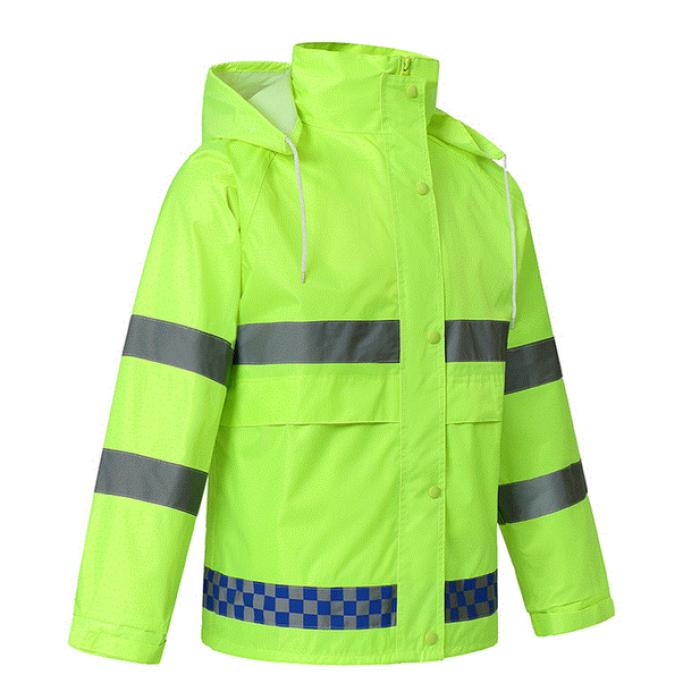 SKRC001  訂購反光雨衣外套  製造雨衣雨褲套裝 製作交通安全環衛螢光套裝 反光外套製造商  反光外套價格