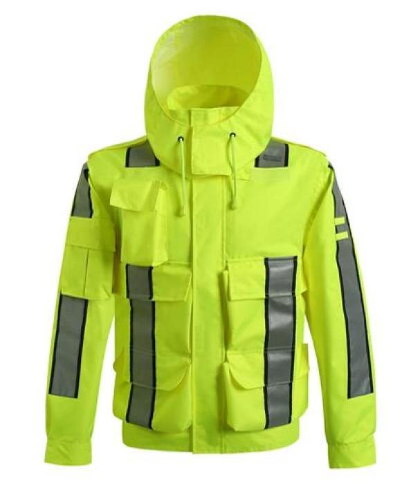 SKRC009 訂造雨衣反光外套款式  自訂交通執行服外套款式   設計反光外套款式   反光外套工廠  反光外套價格
