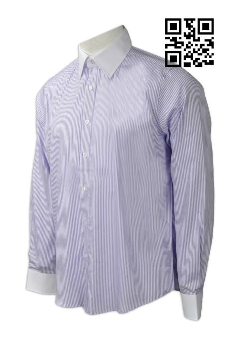 R225 自製男裝恤衫款式    設計條紋恤衫款式   訂造工作服恤衫款式   恤衫工廠