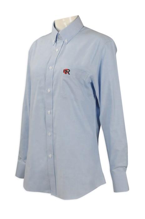 R229   來樣訂造長袖恤衫  網上下單女款恤衫 澳門  馬格納斯  恤衫製衣廠