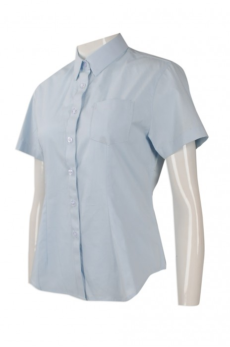 R253 度身訂做修身恤衫 來樣訂做短袖恤衫 中國 設計修身短袖恤衫供應商