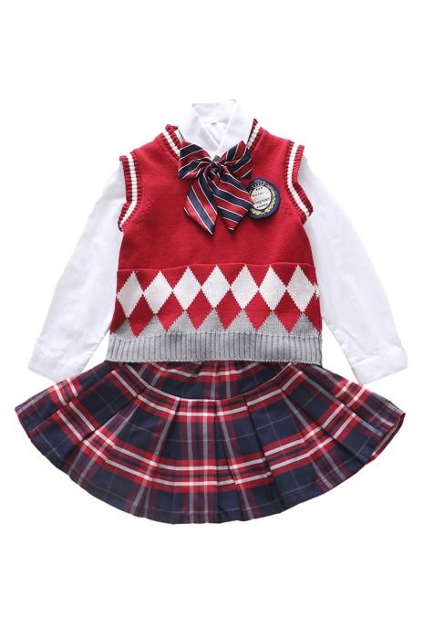 SKCC003 製造英倫風幼兒園園服 供應套裝小學生校服   兒童學院風演出合唱班服