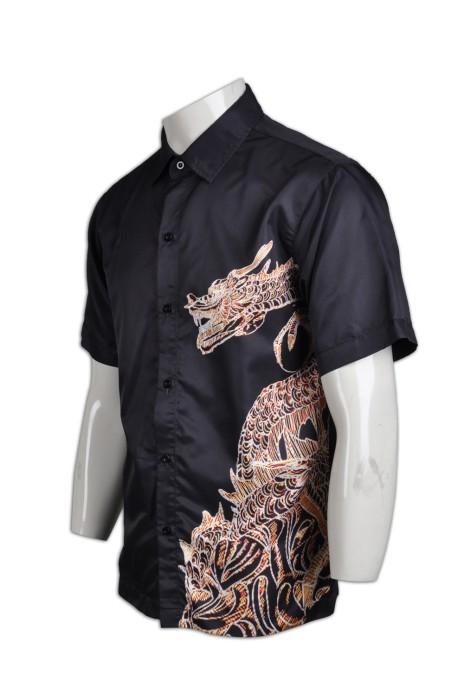 R203熱升華印製恤衫 定製 個性龍形圖紋熱升華恤衫 熱升華產品設計 熱升華恤衫生產商