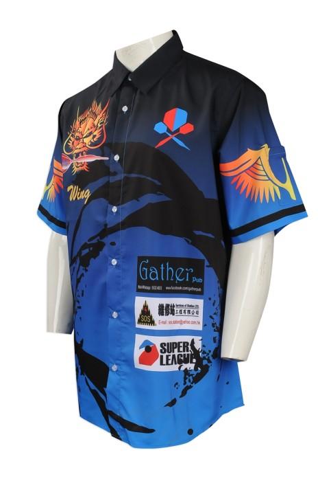 R243 團體訂做熱升華恤衫 大量訂購熱升華員工制服恤衫 飛鏢隊衫 熱升華生產商 電競 電競比賽 電子遊戲比賽
