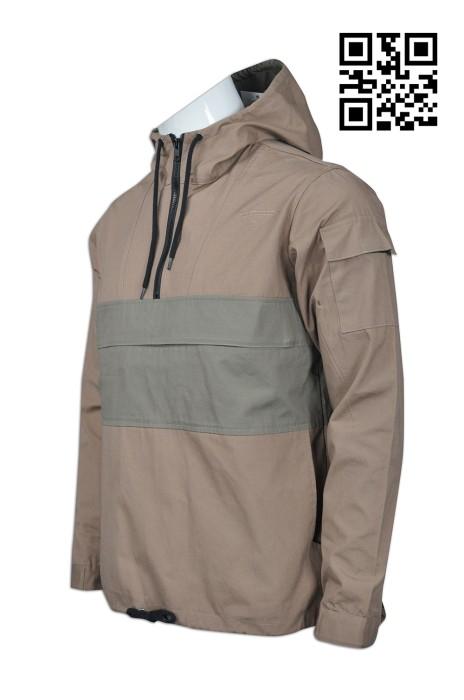 FA320 自製度身風樓款式    訂造連帽風樓外套款式  透氣孔 背面橫間孔  設計風樓外套款式    風樓供應商
