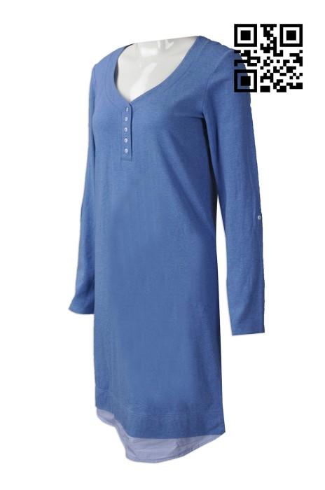 FA337 製作休閒時裝款式   自訂連衣裙時裝款式    訂做女裝連衣裙款式    時裝款式製造商