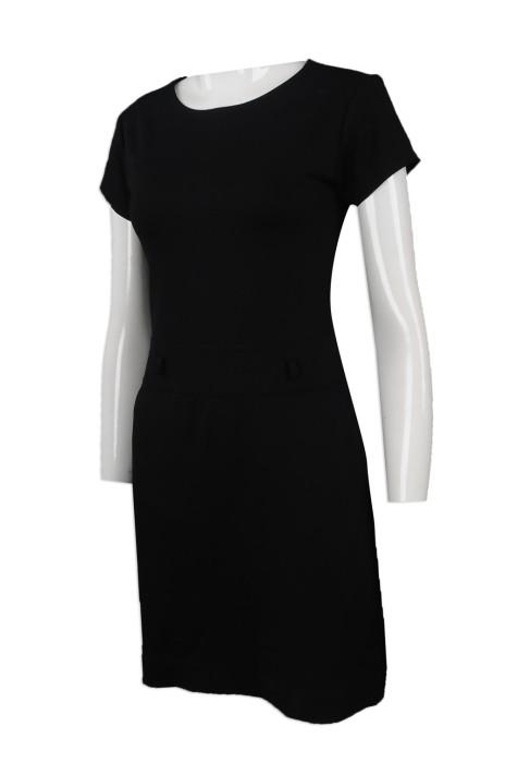 FA343 網上下單連衣裙時裝款式 設計連衣裙時裝款式  連身裙 直身腰帶 新加坡 SHRM 時裝款式批發商