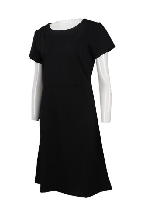 FA347  自訂純色連衣裙款式   製造女裝連衣裙時裝款式    設計個性時裝款式    時裝生產商