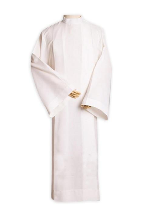 SKPT006 製造大白衣天主教基督教神父袍 執事長 司鐸神父翻領服裝 宗教服裝 教堂服裝 牧師服專門店