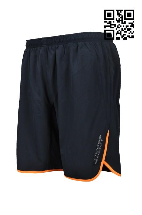 U277  訂造運動專用中褲  設計跑步中褲  中間腰袋 製作褲腳反光條運動褲  運動褲專門店